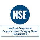 Clearance certificate for the direct use in the potable water and food industry according to NSF/ANSI (Standard 61).